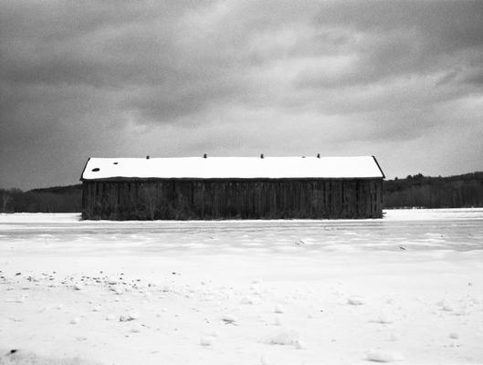 Barn In Snow, Deerfield